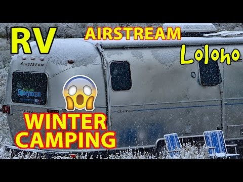 Winter Camping in an Airstream Travel Trailer (RV)