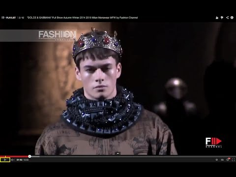 """DOLCE & GABBANA"" Full Fashion Show HD Autumn Winter 2014 2015 Milan Menswear MFW by Fashion Channel"