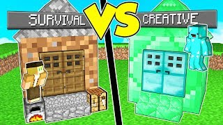 CASA IN CREATIVE contro CASA IN SURVIVAL su MINECRAFT!