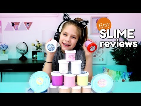 Slime Haul $300 of Etsy Slime Reviews Part 1 + Cat Ear Headphones Perfect Gifts for Kids gift ideas