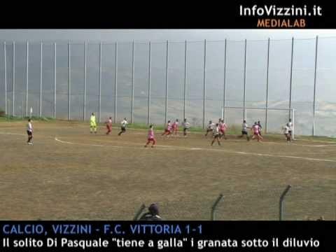 InfoVizzini.it – Calcio, Prima categoria: Vizzini – Fly Calcio Vittoria 1-1, gol spettacolare del bomber Di Pasquale
