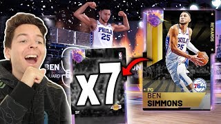 *7* GALAXY OPAL PULLS!! MY BEST PACK OPENING IN NBA 2K19 SO FAR..
