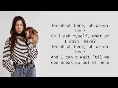 Dua Lipa - Here (Alessia Cara Cover) (lyrics)