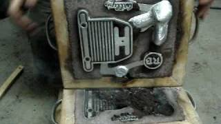 Honda Chopper Project Video #30 COIL BRACKET CASTING
