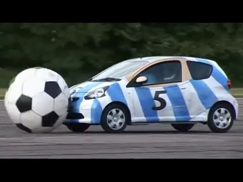 Aygo and football - Top Gear - BBC