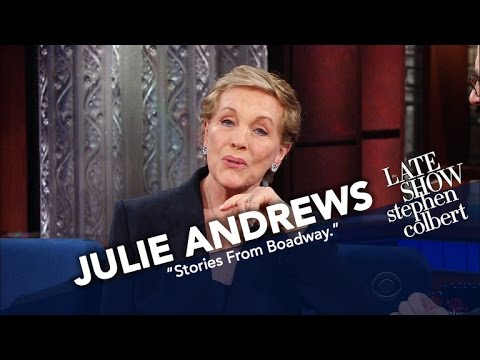 Dame Julie Andrews Makes A Grand Return To The Ed Sullivan Theater Stage