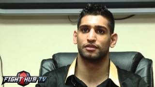 """Amir Khan """"Floyd Mayweather cant punch he would never hurt me"""""""