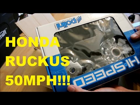 49cc Ruckus Scooter breaks 50MPH! Unboxing and Installing the Polini Variator