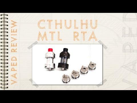 Cthulhu MTL 24mm : parfait pour l'inhalation indirecte ! (revue fr)