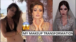 ASIAN BRIDAL MAKEUP AND SCARF STYLING ON EUROPEAN GIRL | SHOCK TRANSFORMATION
