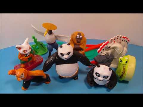 2011 KUNG FU PANDA 2 SET of 8 McDONALD'S HAPPY MEAL TOY'S VIDEO REVIEW