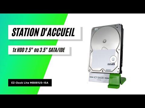 "ICYDOCK Station d'Accueil EZ-Dock Lite MB881U3-1SA USB 3.0 SATA/IDE 2.5"" & 3.5"""