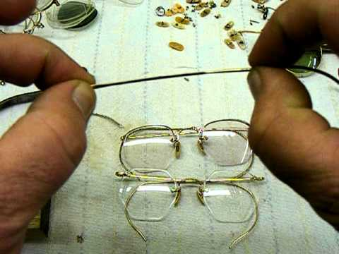 Adjusting Eyeglass Frame Temples : Vintage Eyeglass Cable Temples - Arms - Adjustment - YouTube