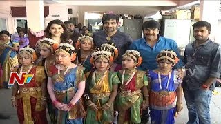 Raja The Great Movie Team visits Devnar School For The Blind in Hyderabad