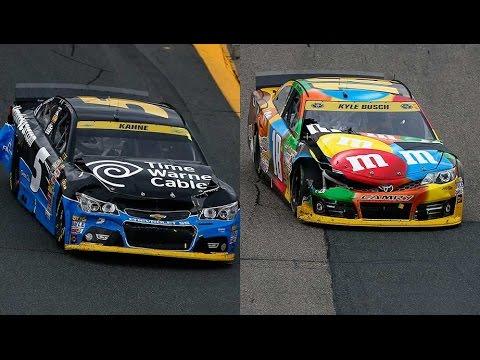 Busch and Kahne Wreck @ 2014 NASCAR Sprint Cup Loudon