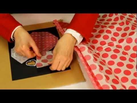 Vitrail en papier bricolage facile pour la saint valentin - Cadre photo pour saint valentin ...
