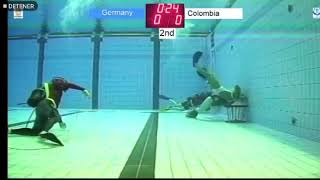 Underwater rugby penalty shot
