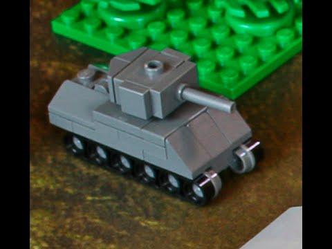 Лего видео как сделать танк