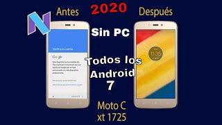 Quitar cuenta google Moto C Plus xt1725  Sin PC Nougat 7.0 2018