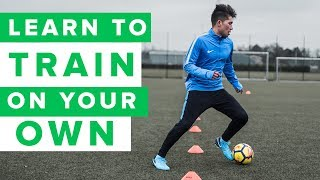 How to train on your own   3 individual football training drills