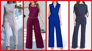 Womens Stylish Plain jumpsuits For Business Womens