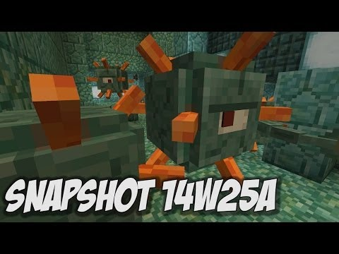 Minecraft 1.8: Snapshot 14w25a New Water Mob Underwater Temples and MORE