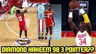 DIAMOND HAKEEM OLAJUWON w/ 98 3PT? INSANE BUZZER BEATER! NBA 2K18 MYTEAM SUPERMAX GAMEPLAY