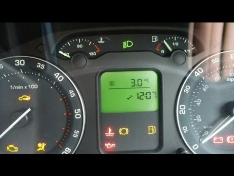 Skoda Octavia Mk2 How to Reset the Service Light / Indicator