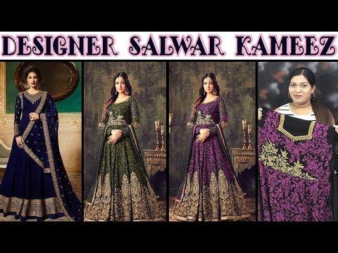 Designer Anarkali Embroidered Salwar Kameez ll Online Shop ll 31 Oct 2018
