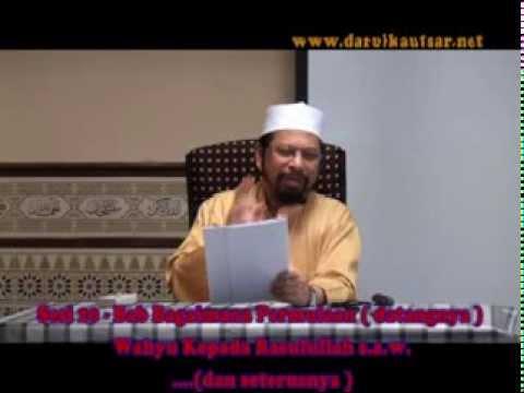 Sahih Bukhari Kitab Wahyu - Sesi 20 -   220913