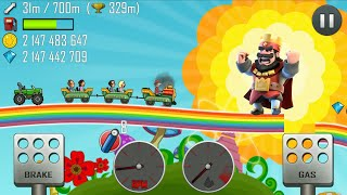 KIDS GAMES ONLINE-Hill Climb RACING MULTIPLE CAR RAINBOW ROAD/GAMEPLAY