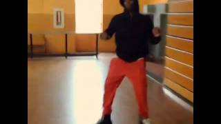 Hitman Holla skating in Red Leather Pants