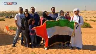علم الإمارات يلامس حدود الفضاء بمنطاد مطور