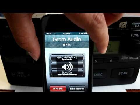 GROM Bluetooth Car Kit with iPhone 4 demo for Toyota 2001 2002 2003 2004 2005 2006