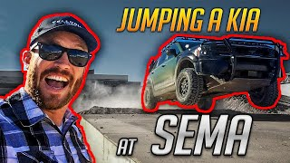 Jumping the 2020 Kia Telluride at the 2018 SEMA Show!!!