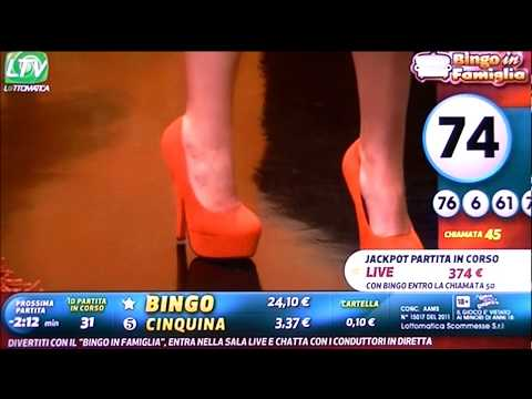 Serena Garitta super tacchi altissimi!!!Bingo in Famiglia 12.3.2013