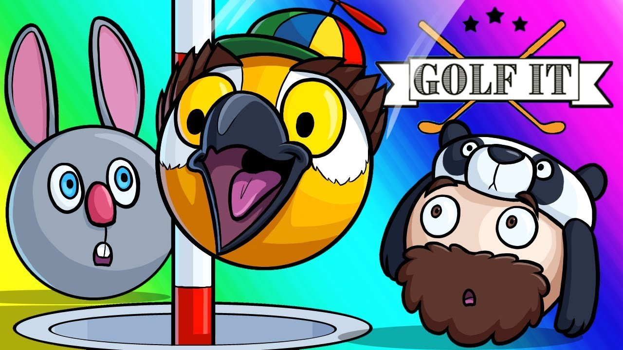 Golf-it Funny Moments - Panda Forgets to Hit Record!