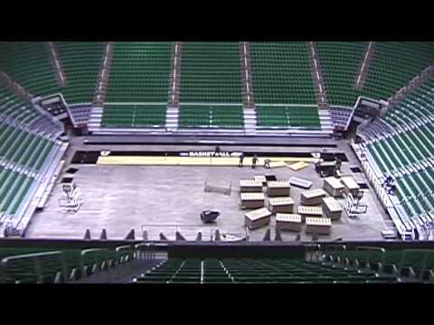 Timelapse: 2010 NCAA Sweet Sixteen Court Changeover in ...