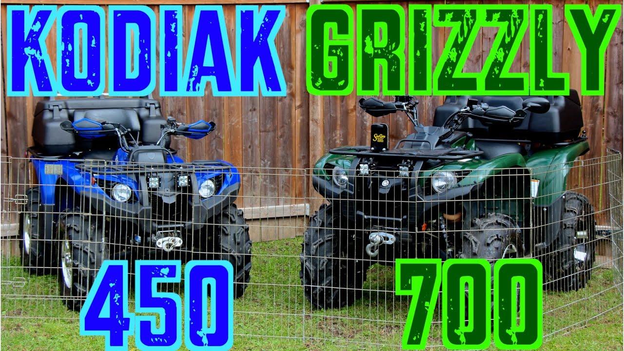 Yamaha Grizzly 450 >> Yamaha Grizzly 700 & Kodiak 450 - A Closer Look - Sept. 20 2014 - YouTube