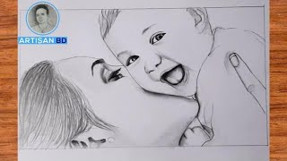 Play this video mothers loveБhow to draw mothers love pencil drawing