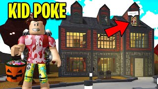 I Became KID POKE To Trick Or Treat.. This House Will Shock You! (Roblox)