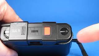 Olympus XA2 camera with A11 Flash Test