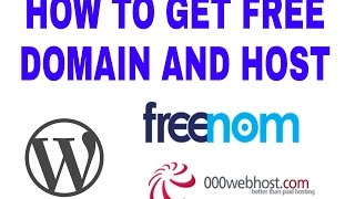 How to get free Domain Name and Hosting  and build a website [2017]