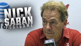 Hear what Nick Saban had to say following Alabama