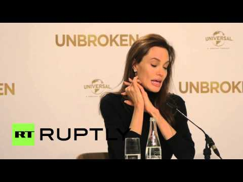 Germany: Angelina Jolie talks poverty and refugees at Unbroken premiere