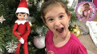 ELF ON THE SHELF BOX OPENING! Aliyah can't Believe it!