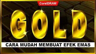 Cara Membuar Efek GOLD dengan CorelDraw - Tutorial CorelDraw