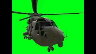 EH 101 Merlin helicopter green screen animation by razor6031 (DOWNLOAD link in description)