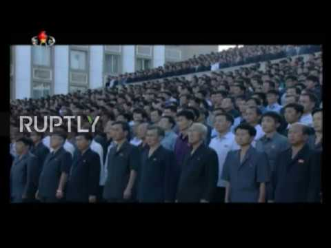 North Korea: Mass rally held in support of Kim Jong-un against Donald Trump
