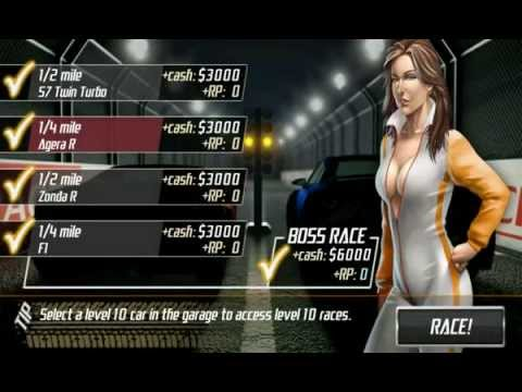 Drag Racing : Level 9 Boss (Koenigsegg Agera R - Not Best Time Possible)Android Platform